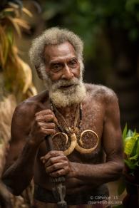 Rom Dancer with Boar's Tusk Necklace - Fanla Village, Ambrym Island, Vanuatu 2012