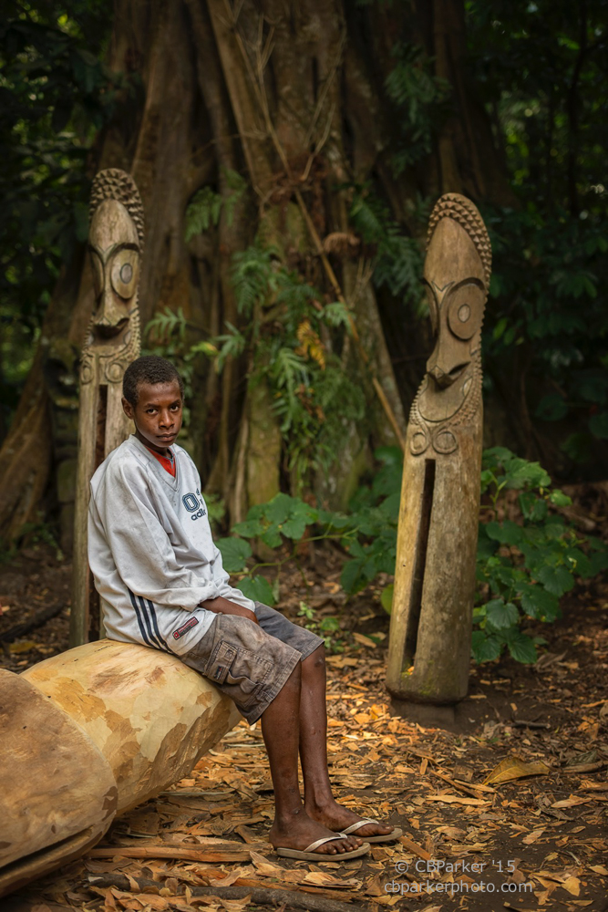 Boy Watching Rom Dance - Fanla Village, Ambrym Island, Vanuatu 2012